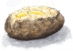 Baked Potato Illustration