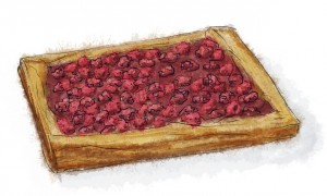 Nutella and Raspberry Tart