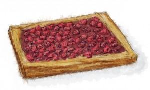 Nutella and Raspberry Tart