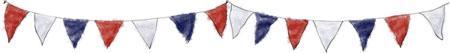 Bunting for Labor Day Recipes