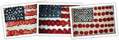 A flight of flag cakes