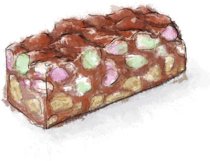 Rocky Road recipe llustration