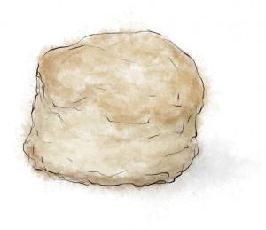Easy lemon scone recipe illustration