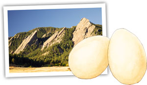Eggs and Mountains for a story of romance and eggs en cocotte