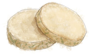 Recipe illustration for grange disk shortbread recipe