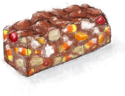 Halloween rocky road illustration for easy halloween recipe party ideas