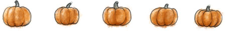 Halloween pumpkin recipe illustration