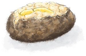 Baked potato for bonfire night recipes