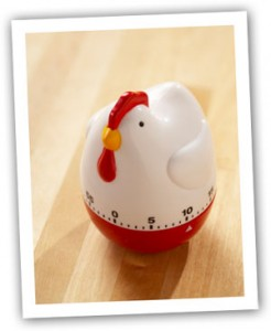 Chicken timer for Thanksgiving cooking plan