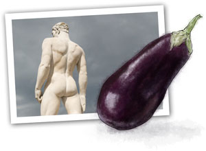 Eggplant illustration for parmigana recipe