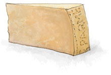 Parmesan illustration for croque monsieur recipe