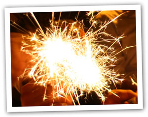 Sparkler photo for bonfire night recipe
