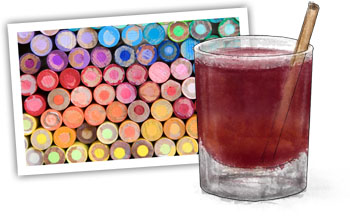 spiced cranberry apple cooler illustration for recipe