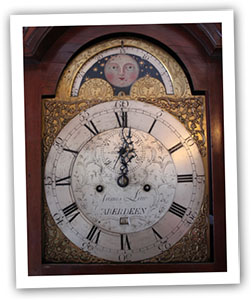 Clock at midnight for New Year's Eve Recipes