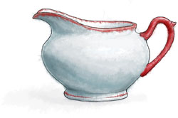 Gravy Jug illustration for Dickensian Christmas Feast
