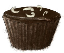 Chocolate Coconut Cupcake Illustration for cupcake recipe