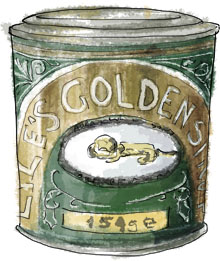 Golden Syrup illustration for millionaire shortbread recipe