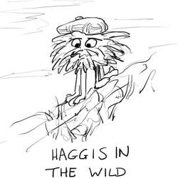 Haggis illustration for Burns' night recipe