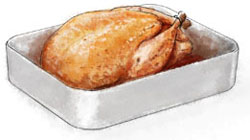 Roast turkey illustration for roast turkey recipe