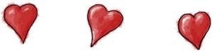 Hearts illustration for valentines recipe