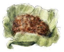 Lettuce pack illustration for recipe