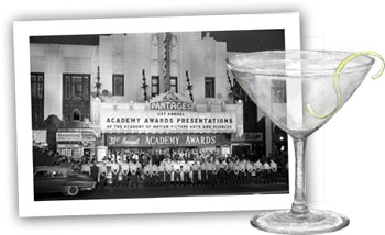 vodka martini and oscar photo for cocktail party ideas