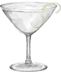 Gin martini for oscar cocktail parties