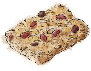 Breakfast bar illustration from Nigella's Breakfast Bar recipe