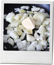 Chopped onions photo for tomato sauce recipe