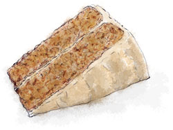 Illustration of coffee cake for an easy coffee cake recipe