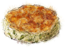 Colcannon Cake illustration for St Patrick's day recipe to go with Guinness