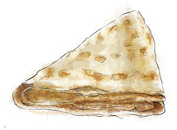 Crepe illustration for classic crepe recipe