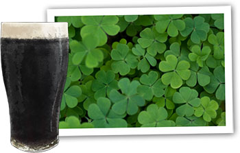 Guinness And Colcannon Cake illustration for St Patrick's Day recipes