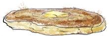 Pancake illustration for buttermilk pancake recipe