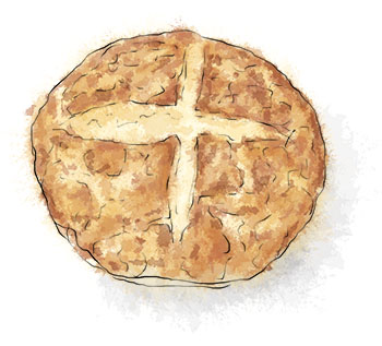 Soda Bread illustration for St Patrick's Day recipe