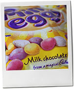 Cadbury mini egg photo to illustrate an Easter nutella chocolate brownie recipe