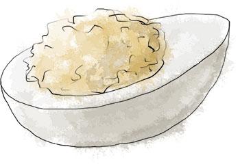 Deviled egg illustration for deviled egg recipe