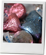 Easter Hershey Kiss photo for nutella chocolate brownie recipe