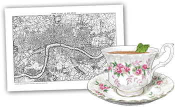 London Royal Wedding Tea Cocktail illustration for Royal wedding recipes