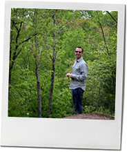 John in the woods in upstate New York