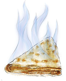 Flaming crepe suzette for summer picnic recipes