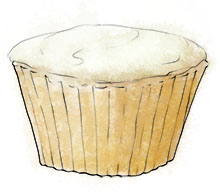 Lemon Cupcake illustration for perfect picnic desserts recipes