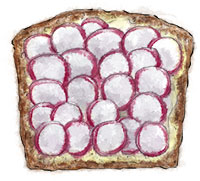 Radish Sandwich for picnic recipes