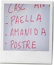 paella board from Barcelona for recipe