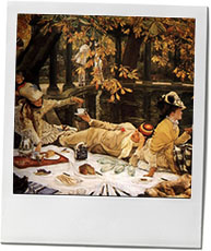 Tissot's painting of a luxurious picnic for picnic recipes
