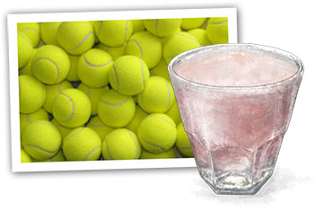 Wimbledon and alcoholic strawberry milkshakes illustration