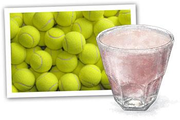 Wimbledon and alcoholic strawberry milkshakes illustration