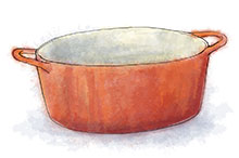 le creuset illustration for duck confit recipe