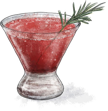Blackberry Fizz cocktail illustration for cocktail recipe