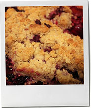 Photo of a fruit crumble for a hurricane fruit crumble recipe